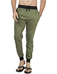 Clifton Men's Ribbed Slim Fit Track Pant - Olive