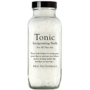 Tonic - Invigorating Bath Salts For All That Ails - With Peppermint and Eucalyptus 18 oz from Angel Face Botanicals