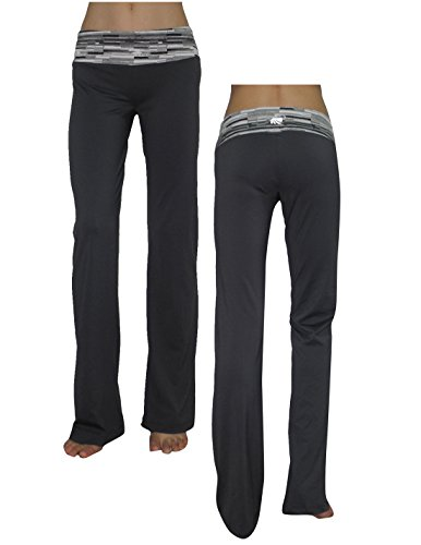 Marika Womens Comfortable Casual-Wear Lounge / Yoga Pants M Grey