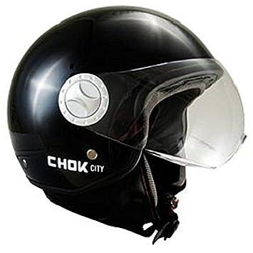 Casque moto jet CHOK CITY PILOTE 14 - Noir