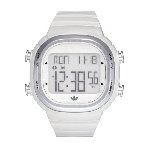 Adidas Originals Unisex White Digital Seoul Watch -ADH2120