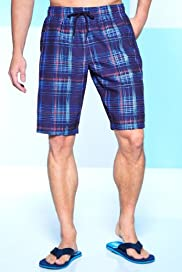 Blue Harbour Painted Check Swim Shorts [T28-7812B-S]