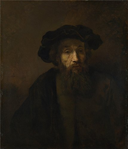 Polyster Canvas ,the High Quality Art Decorative Prints On Canvas Of Oil Painting 'Rembrandt A Bearded Man In A Cap ', 30 X 35 Inch / 76 X 89 Cm Is Best For Game Room Decor And Home Decor And Gifts (Word Sea R Ch compare prices)