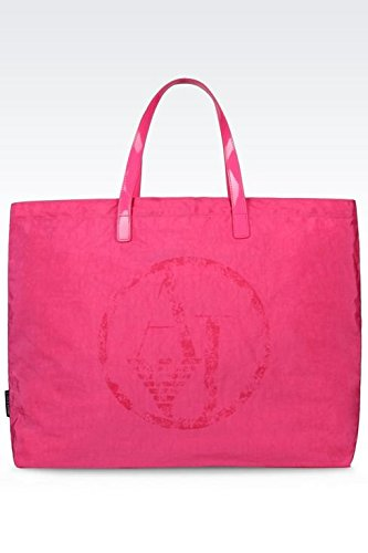 ARMANI JEANS NYLON SHOPPING BAG C522XU4-PA FUXIA