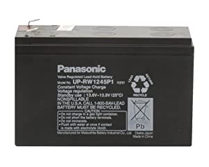 Panasonic UP-VW1245P1 Black Large 12V 40 Watts Per Cell Battery with F2 Terminal