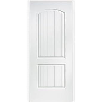 National Door Company Z009470r Wood Right Hand Prehung In Swing Interior Door 2 Planked Panels