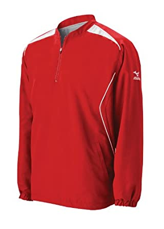Mizuno Men's Prestige Long Sleeve G3 Batting Jersey (Red, Small)