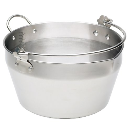 Kitchen Craft Maslin Pan Stainless Steel with Handle
