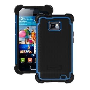 Ballistic Shell Gel (SG) Series Case for STRAIGHT TALK Samsung Galaxy S II (SGH-S959G), AT&T (SGH-i777 / SGH-i9100) - Black/Blue (SA0854-M375)