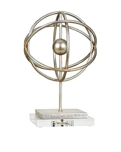 Couture Silver Orb Finial, Silver Leaf