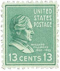 #818 - 1938 Fillmore 13c green Postage Stamp Numbered Plate Block (4)
