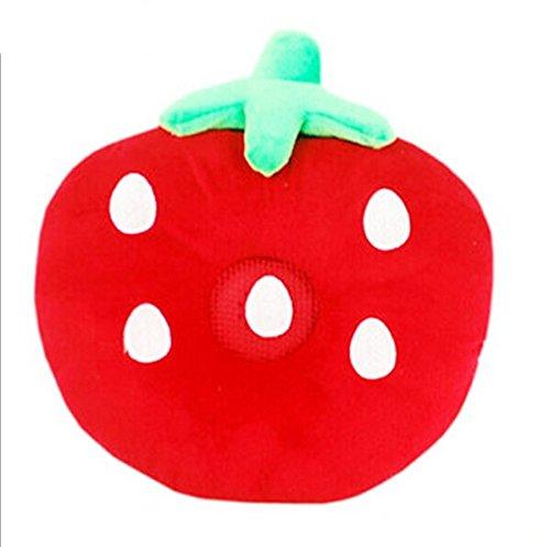 Cartoon Fruit Red Strawberry Design Therapy Music Speaker Sound Asleep Sleeping Pillow W/ 3.5Mm Plug