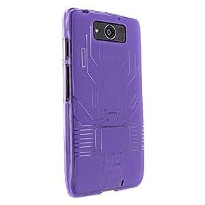 Droid Maxx Case, Cruzerlite Bugdroid Circuit TPU Case Compatible for Motorola Droid Maxx (Late 2013) - Purple