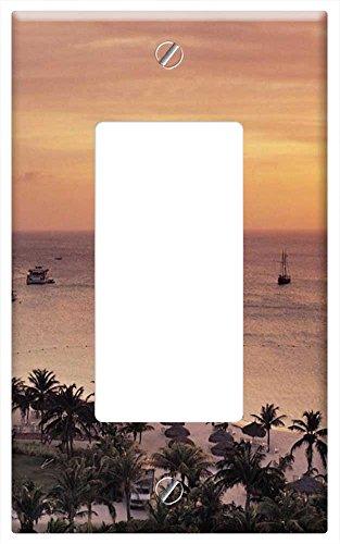 waplate-radisson-resort-on-aruba-at-sunset-switch-plate-single-rocker-gfci