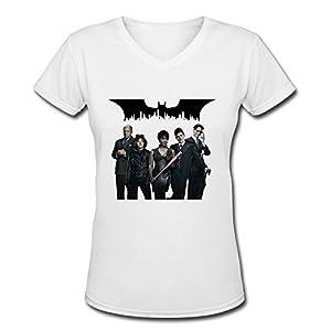 AOPO Gotham TV Play V-Neck Short Sleeve Tee Shirts For Women at Gotham City Store