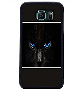 PrintDhaba Cat Eyes D-1422 Back Case Cover for SAMSUNG GALAXY S6 (Multi-Coloured)