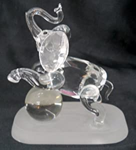 NEW Handmade Glass Crystal Elephant Figurine
