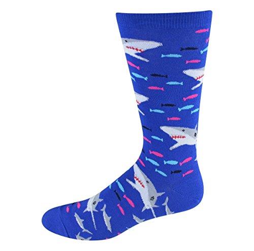 Socksmith Men's Socks Sharks Crew Blue 1pair (Shark Socks For Men compare prices)