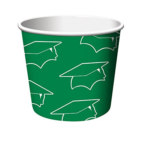 Creative Converting 6 Count Graduation Treat Cups, Green