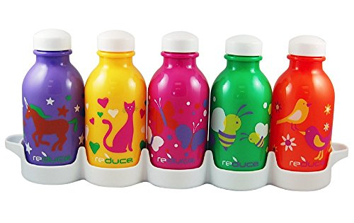Reduce Waterweek Kids Flutter Water Bottles, 10-Ounce, Set Of 5 front-569717