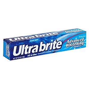 Ultra Brite Advanced Whitening Anticavity Fluoride Toothpaste, Clean Mint, 6 oz (170 g)