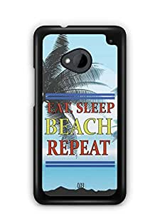 YuBingo Travel, Sleep, Beach, Repeat Mobile Case Back Cover for HTC One M7
