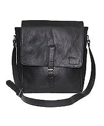 NC Designer Branded Genuine Pure Leather messenger bags.Comfort Pure Leather black color.