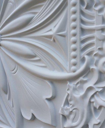 Moule 3D PL10 similicuir carreau de plafond Blanc mat pour décoration en relief de fond photosgraphie Panneaux muraux 10pieces/lot