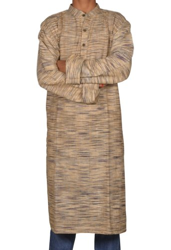 Casual Wear Indian Khadi Mens Long Kurta Fabric For Winter & Summers Size-6XL