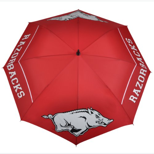 NCAA Arkansas Razorbacks 62-Inch WindSheer Hybrid Umbrella at Amazon.com