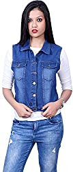 Style Souk Women's Regular Fit Jacket (Skj07, Blue, Medium)