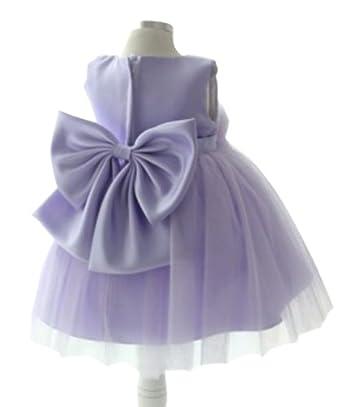 DAPENE Flower Girl Tutu Dress For Wedding Birthday Party Dress Purple 150cm