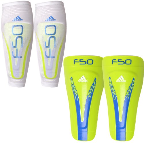 Adidas Adults F50 Pro Lite Football Shin Guards - White - V87176 - M