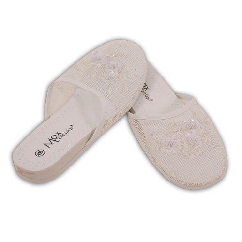 Cheap Mesh Slippers – White (B003JNHG8E)