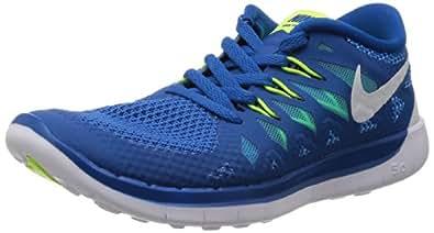 Nike Kids Free 5 (PS) Mltry Bl/Wht/Plrzd Bl/Mdnght N Running Shoe 1 Kids US
