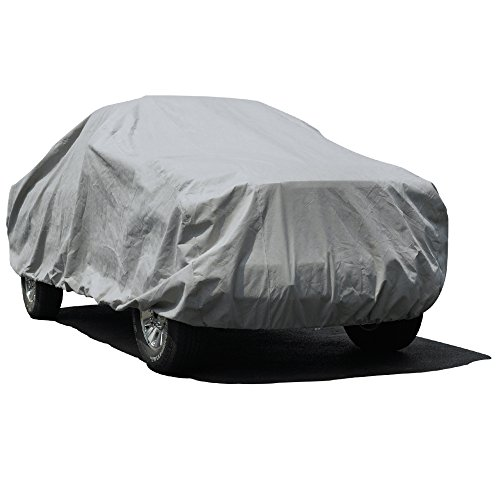 Budge Lite Truck Cover Fits Short Bed Extended Cab Pickups up to 232 inches, TB-3X - (Polypropylene, Gray)