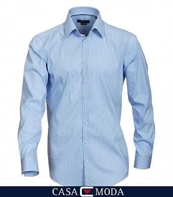 Venti Herren Slim Fit Business Hemd 001810, Gr. Kragenweite: 37 cm, Blau (blau 100)