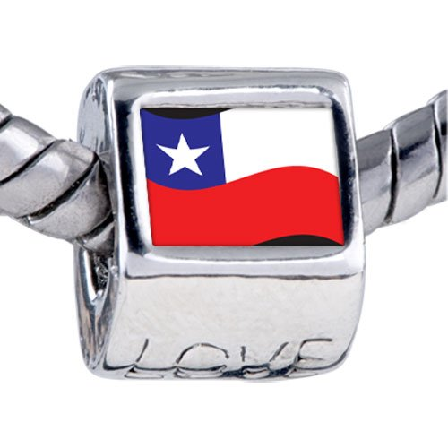 Pugster Bead Chile Flag Beads Fits Pandora Bracelet