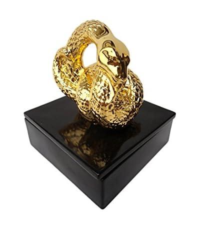 Waylande Gregory Snake Box, Black/Gold