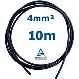 10 m Reiter-Solar SK4010 Solarkabel 4 mm - PV Verbindungs-Kabel unkonfektioniert rot oder schwarz, Farbe:Schwarz