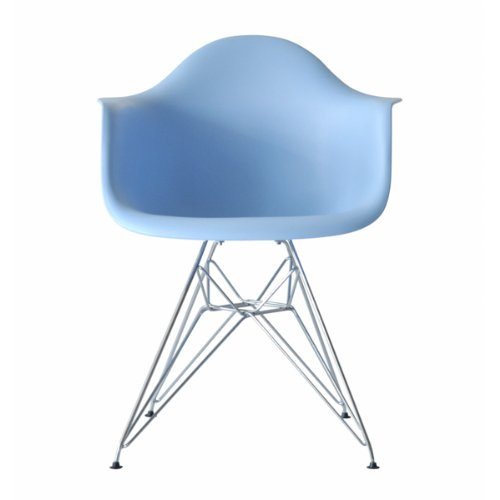 * Higher Quality * - Eames Eiffel DAR Lounge Dining Chair Blue - Panton Era