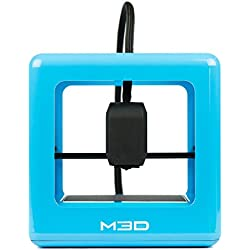 The Micro-Impresora 3D 5 colores más compacto del mundo plástico PLA, incluye protector de pantalla, Bleu