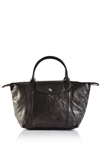 Longchamp discount duty free Longchamp Le Pliage Cuir Bag, Large, Black
