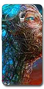 DigiPrints Designer Back cover for Lenovo Vibe P1-Multicolor