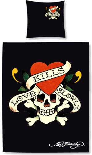 Ed Hardy Bettwäsche Love Kills Slowly 135 x 200cm