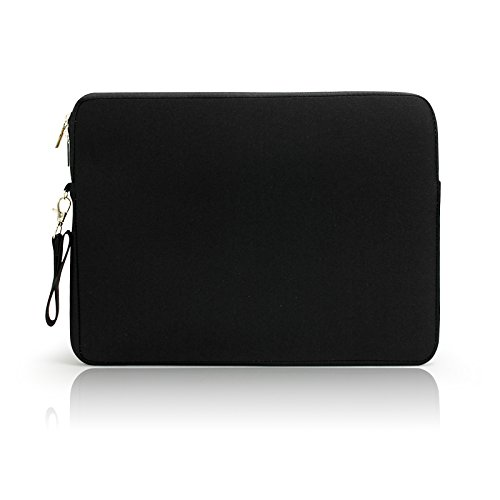 Lavievert Soft Neoprene(Water Resistance) Macbook Sleeve Simple and Elegant Laptop Case Notebook Bag Macbook Cover (Easy to Open & Close) for Apple 13'' Macbook Pro with Retina / 13'' Macbook Air / 13'' Macbook Pro and other 13-13.3 inches Laptop / Notebook - Black