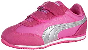 PUMA Whirlwind V Sneaker (Toddler/Little Kid),Fluroscent Pink/Puma Silver,8 M US Toddler