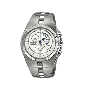 Buy Seiko Mens SNL001 Arctura Kinetic Chronograph Watch by Seiko