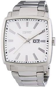 Esprit - ES101871004 - Smart Trick - Montre Homme - Quartz Analogique - Cadran Blanc - Bracelet Acier Argent