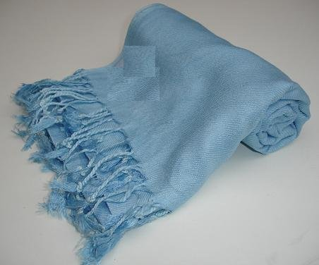 Pashmina Scarf Shawl Wrap Throw Sky Blue